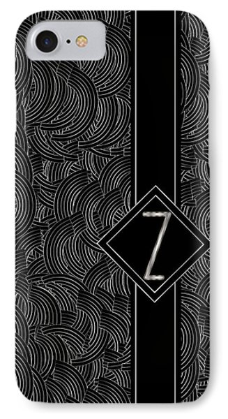 Deco Jazz Swing Monogram ...letter Z IPhone Case by Cecely Bloom