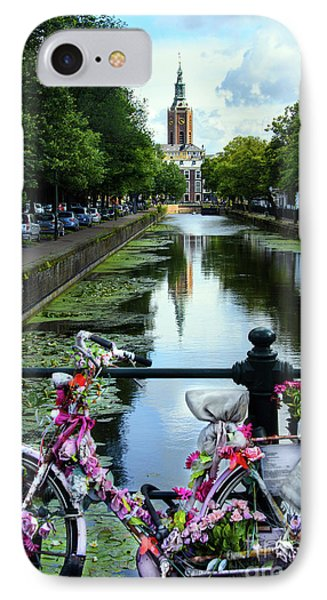 IPhone Case featuring the photograph Canal And Decorated Bike In The Hague by RicardMN Photography