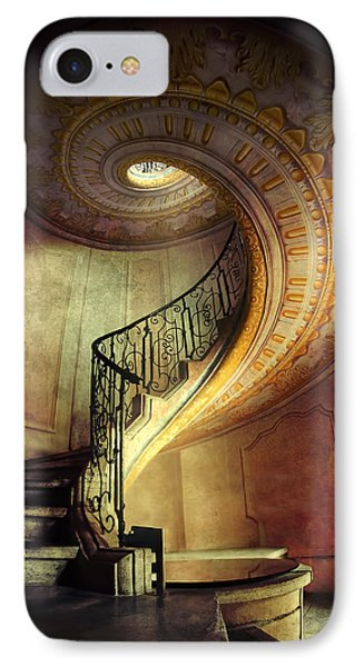 Decorated Spiral Staircase  IPhone Case by Jaroslaw Blaminsky