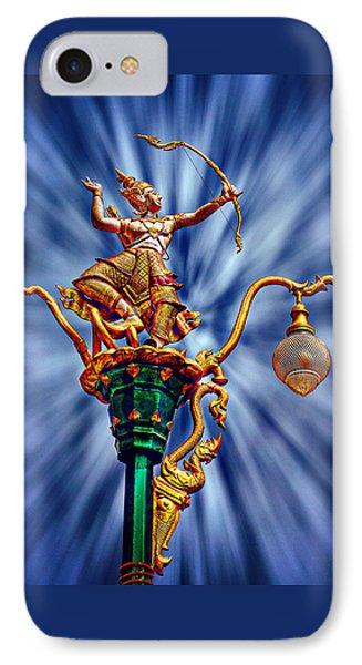 Decorative City Lamp Post Khon Kaen-thailand IPhone Case by Ian Gledhill