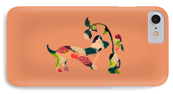 Decorative Dachshund 2 IPhone Case by Holly McGee