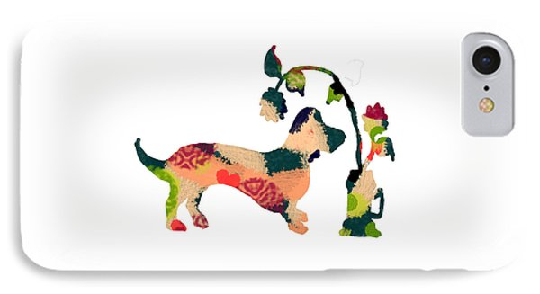 Decorative Dachshund 3 IPhone Case by Holly McGee