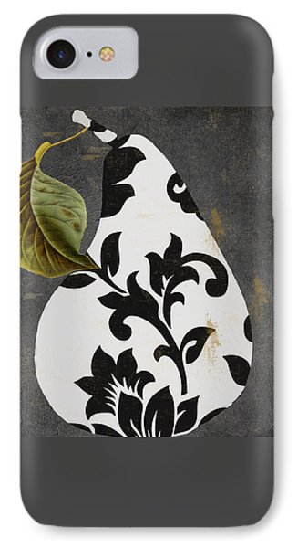 Decorative Damask Pear I IPhone Case by Mindy Sommers