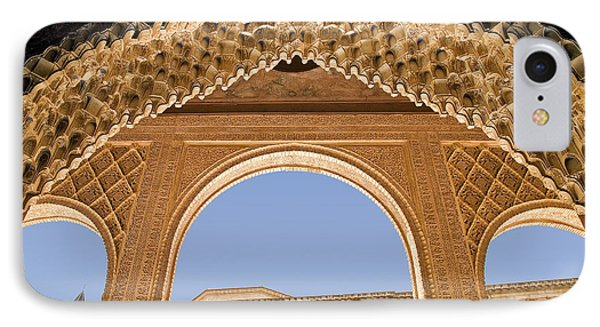 Decorative Moorish Architecture In The Nasrid Palaces At The Alhambra Granada Spain Phone Case by Mal Bray