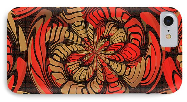 Decorative Red And Brown IPhone Case by Gaspar Avila