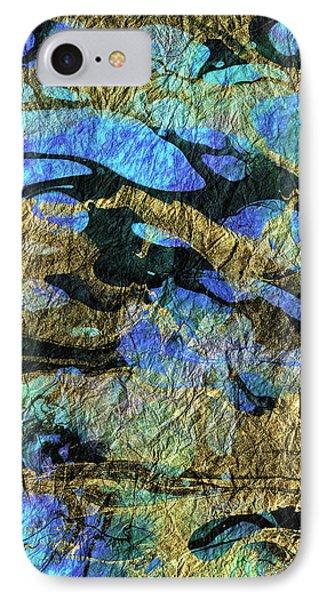 Deep Blue Abstract Art - Deeper Visions 1 - Sharon Cummings IPhone Case by Sharon Cummings