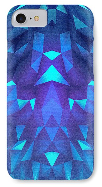 Deep Blue Collosal Low Poly Triangle Pattern  Modern Abstract Cubism  Design IPhone Case by Philipp Rietz