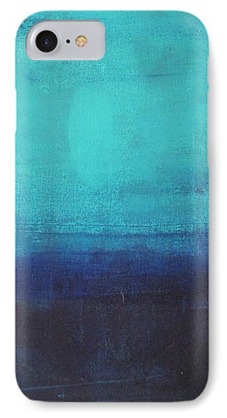IPhone Case featuring the painting Deep Blue Sea by Nicole Nadeau