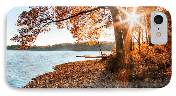 Deep Creek Lake Fall II IPhone Case by Neal Blizzard