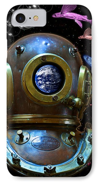 Deep Diver In Delirium Of Blue Dreams IPhone Case