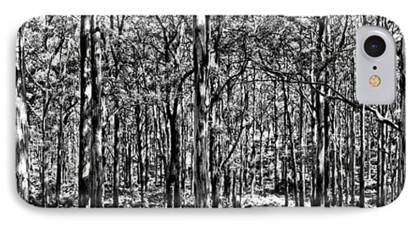 Deep Forest Bw IPhone Case by Az Jackson