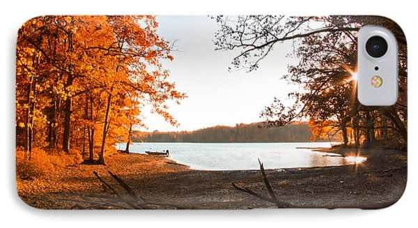 Deep Creek Lake Fall Iv IPhone Case by Neal Blizzard