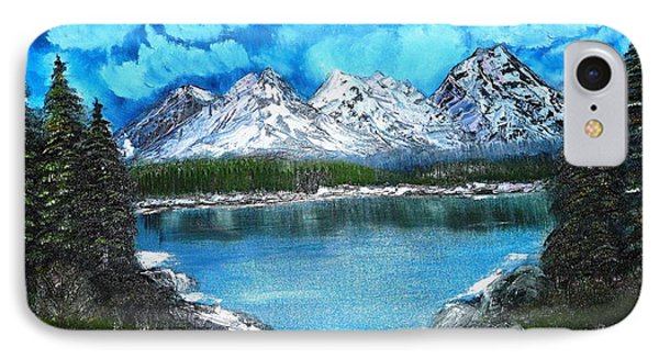 Deep Mountain Lake IPhone Case by Valerie Ornstein