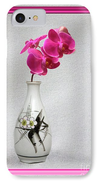 IPhone Case featuring the photograph Deep Pink  Orchids by Linda Phelps