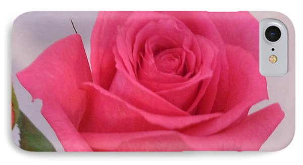 Deep Pink Rose IPhone Case by Karen J Shine