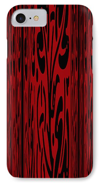 Deep Red Abstract IPhone Case