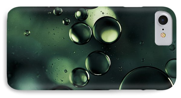 Deep Sapphire Blue And Emerald Green Macro Water Droplets IPhone Case