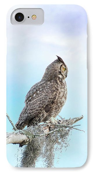 Deep Thoughts Of The Great Horned Owl IPhone Case