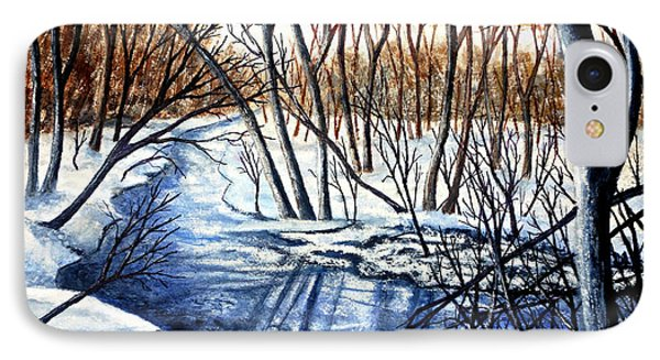 IPhone Case featuring the painting Deep Woods Wisconsin by Thomas Kuchenbecker