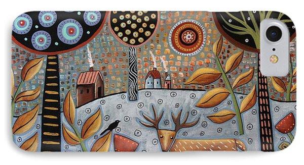 Deer And Bird 1 IPhone Case by Karla Gerard