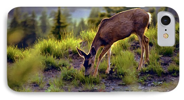 Deer At Crater Lake, Oregon IPhone Case by John A Rodriguez