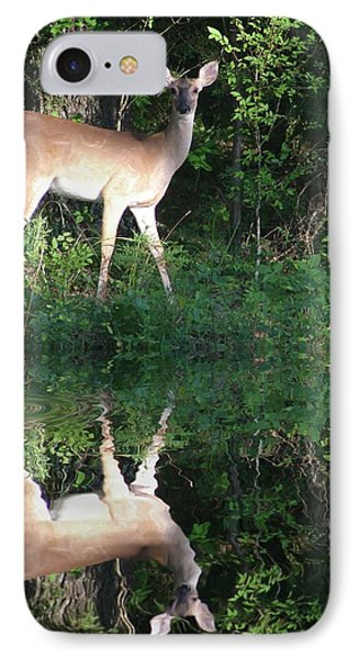 Deer At Dusk IPhone Case by Rick Friedle