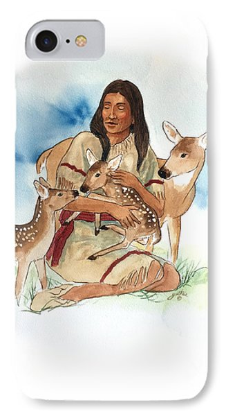 Deer Clan Mother Phone Case by John Guthrie