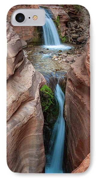 Deer Creek Double Waterfall IPhone Case by Britt Runyon