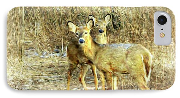 Deer Duo 6 IPhone Case by Marty Koch