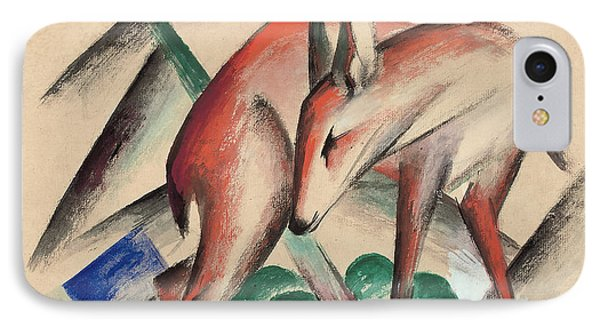 Deer IPhone Case by Franz Marc