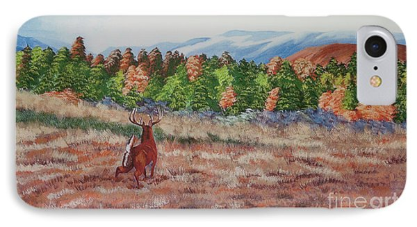 Deer In Fall Phone Case by Charlotte Blanchard