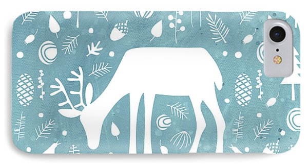 Deer In The Woods IPhone Case by Nic Squirrell