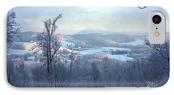 Deer Valley Winter View IPhone Case by Meta Gatschenberger
