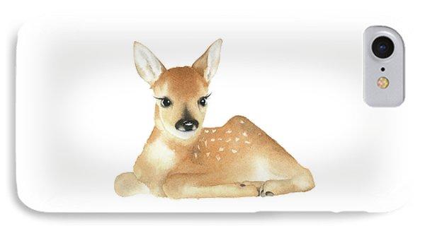 IPhone Case featuring the painting Deer Watercolor by Taylan Apukovska