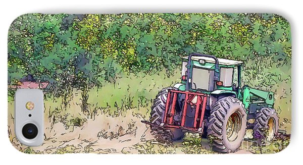 IPhone Case featuring the photograph Deere In The Wildflowers - Line And Ink Art by Kerri Farley