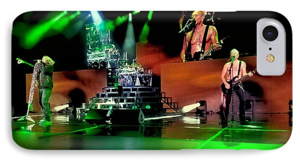 Def Leppard On Stage IPhone Case by David Patterson