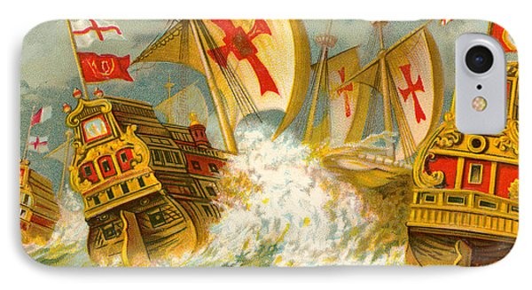 Defeat Of The Spanish Armada IPhone Case by English School