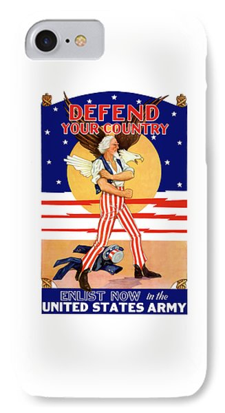 Defend Your Country Enlist Now  Phone Case by War Is Hell Store