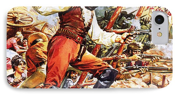 Defending The Alamo IPhone Case by CL Doughty