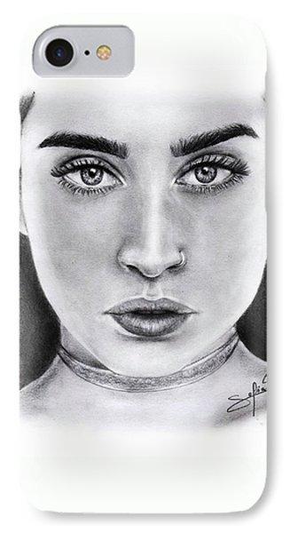 Lauren Jauregui Drawing By Sofia Furniel  IPhone 7 Case
