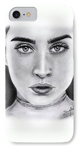 Lauren Jauregui Drawing By Sofia Furniel  IPhone Case