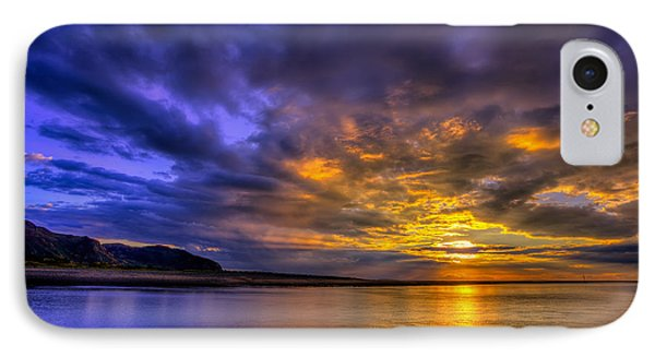 Deganwy Sunset Phone Case by Adrian Evans