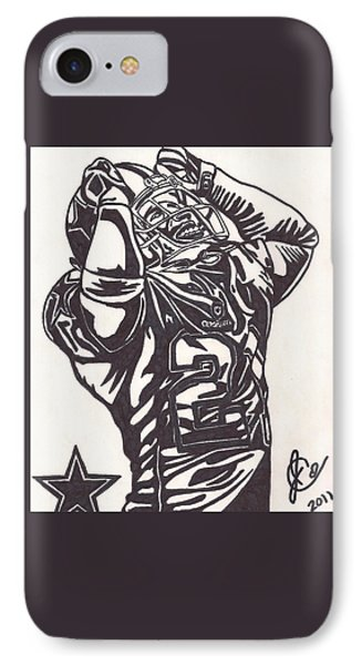IPhone Case featuring the drawing Deion Sanders by Jeremiah Colley