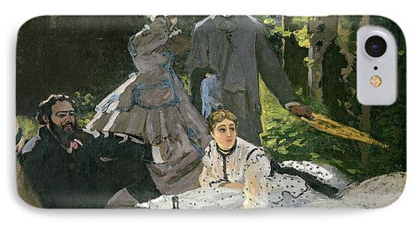 Dejeuner Sur Lherbe Phone Case by Claude Monet
