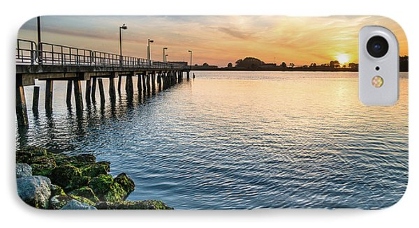 Del Norte Pier And Spring Sunset IPhone Case by Greg Nyquist