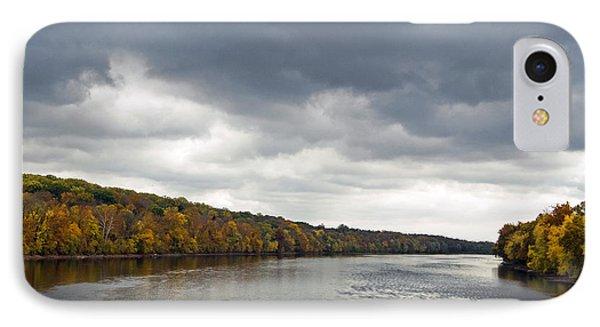 Delaware In Autumn IPhone Case by Elsa Marie Santoro
