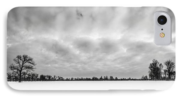 IPhone Case featuring the photograph Delaware Park Winter  Meadow by Chris Bordeleau