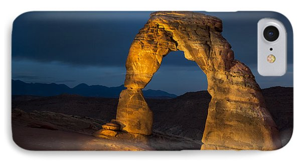 Delicate Arch At Night Phone Case by Adam Romanowicz