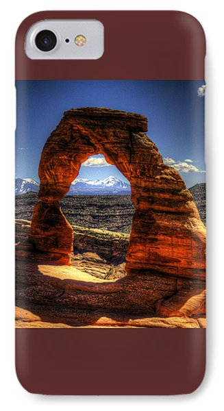 Delicate Arch Framing La Sal Mountains IPhone Case
