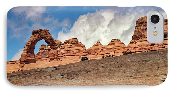 Delicate Arch From Below IPhone Case by Rick Berk